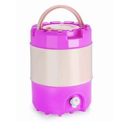 Polypropylene Pink And Cream Cool Insulated Water Jug, Capacity: 15 Litre