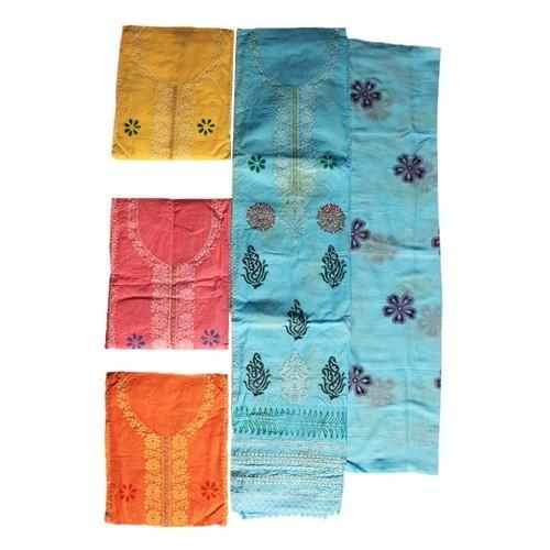 6664a95aef Embroidered Unstitched Organdy Cotton Self Embroidery Suit Piece, Rs ...