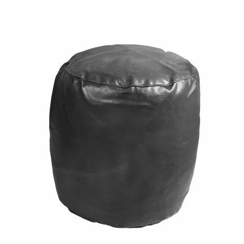 super popular 0ce5f 4cf6e Round Leather Pouf