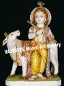 Marble Cow Krishna Gaur Gopal Statue