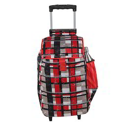 Red & White Wheeled Trolley Multipurpose Shopping Bag