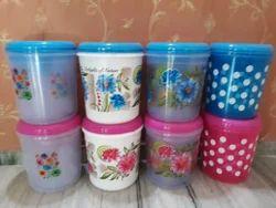 Storwell Round Plastic Container Set