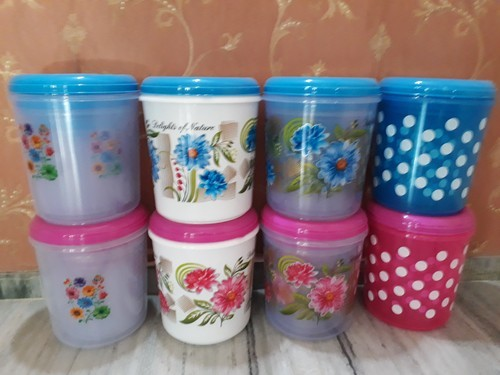 e51806ad35a UKP Printed Storwell Round Plastic Container, Packaging Type: Box, for Home