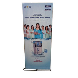Silver PVC,Flex Promotional Roll Up Banner Stand, Size: 6x3 Feet