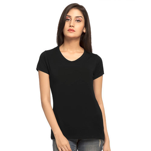 Ladies Black Half Sleeve T-Shirt at Rs 145  piece  f47048906