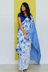 Prateek Textiles Festive Wear Printed Handloom Saree, 5.5 m (separate blouse piece)
