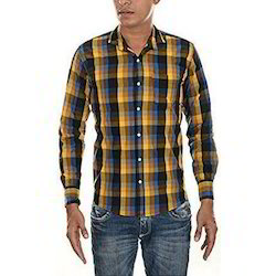 Mens Full Sleeve Formal Check Shirt, Size: 38 and 40
