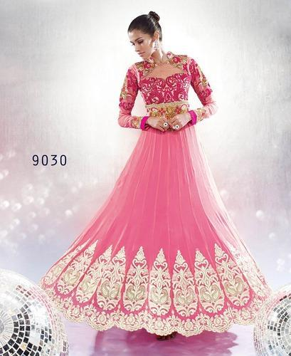 39796762e12d2 Lilots Light Pink Anarkali Party Wear Suits at Rs 3999