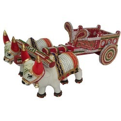 Home Decor Wooden Bullock Cart (Set of 5)