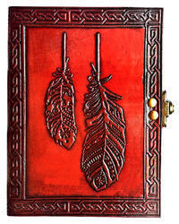 Feather Quill Leather Journal