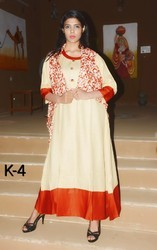 Long Shrug with Plain Party Wear Kurti