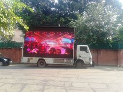 Led Screen Canter, L Shape Road Show Led Video Van,