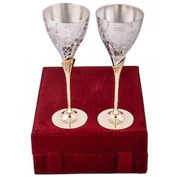 Sai Enterprises Brass Silver Plated Wine Glass