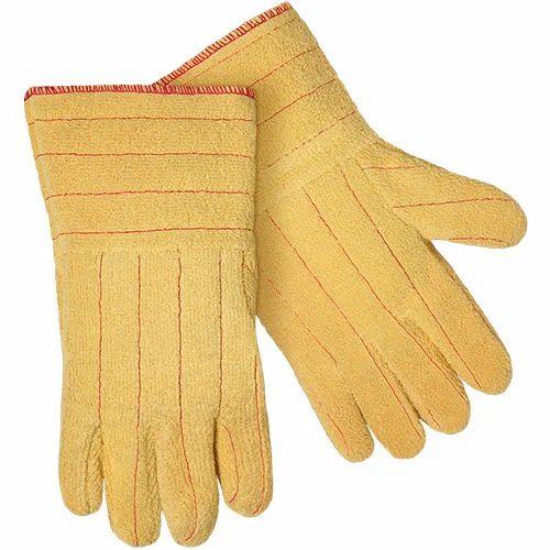 Unisex Yellow Aramid Fiber Glove, Size: L, Rs 850 /pair Subham Safety House    ID: 11682310588