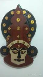 Wooden Kathakali face