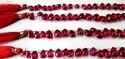 Ruby Imitation Flat Drops Beads