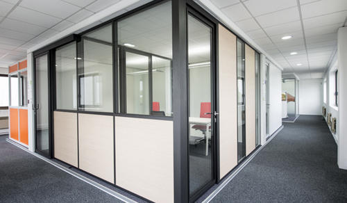 Powder Coated Aluminium Partition Panels At Rs 41 Square