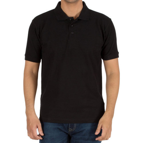 Plain Black Collar T Shirt at Rs 190 /piece | Kutbiwadi | Surat ...
