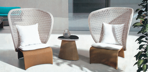 Wing Style Outdoor Wicker Coffee Set,  Table Shape: Round and Square