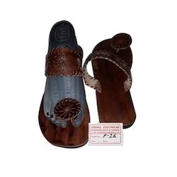Leather Weaving Round Chappal