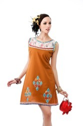 Designer Stylish Prined Ladies Short Tunic