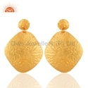 Designer Gold Plated Sterling Silver Earrings