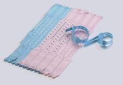 Soft Vinyl Mother-Infant Wristbands with Insert Card