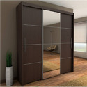 Plywood 3 Door Sliding Wardrobe