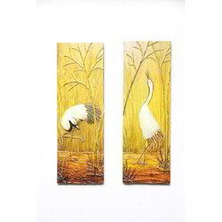 Polished Wooden Wall Hanging Mural Art, For Home Decor, Size: 4 X 8