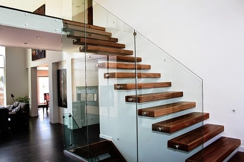 Floating Stairs   Wood