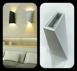 Warm White LED Two Way Wall Light