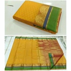 Silk Thread Work Border Saree