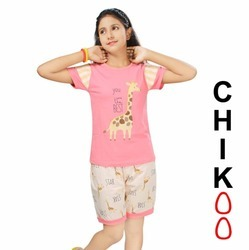 Nightwear For Girls (Chikoo)