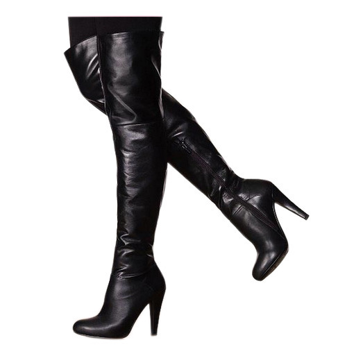 402e43abc96 Ladies Black Leather Long Boot