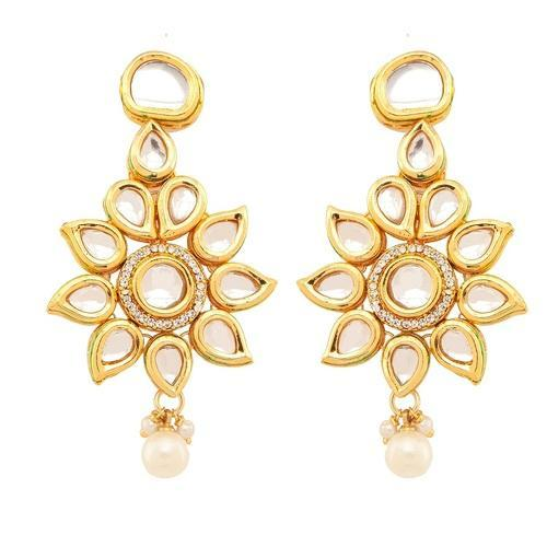Pretty Look Gold Plated Kundan Stone Earring