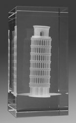 3D Laser Engraved Leaning Tower