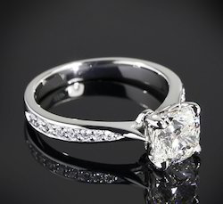 Princess Cut Real Diamond Engagement Ring
