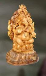 Wood Sculpture Of Lord Ganesha