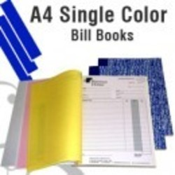 A4 Single Color Bill Books