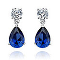 Elegant Blue Gold Earring