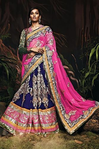 Tantalizing Bridal Wear Velvet Lehenga Choli at Rs 10768 /unit ...