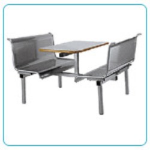 Steel Table Chair Set