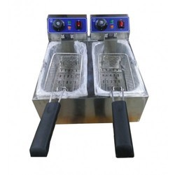 SOLUTIONS PACKAGING Double Fryer, For Restaurant, Size: 550 X 416 X 310