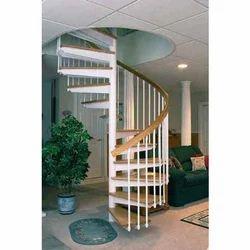 Wood White Stairs