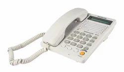 White Panasonic Landline Phone Kxt-2375 With 2.5mm Headphone Port