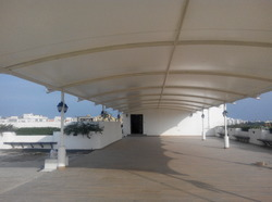 Membrane Tensile Roof Structures for Terrace Area