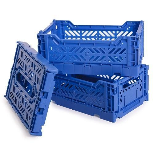 Blue Rectangular Foldable Plastic Crates, Rs 384 /piece MPH Group | ID:  12818506791