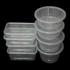 Tranperent Clear Plastic Container, Capacity: 100ml-1500ml