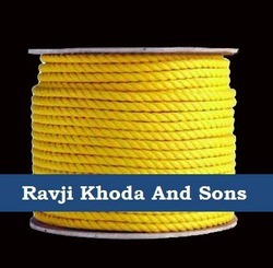 Yellow And White Marine Ropes PP, For Industrial And Rescue Operation