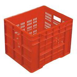Orange Plastic Vegetable Crate